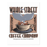 Hawaii Whale Street Coffee Company Tarjeta Postal