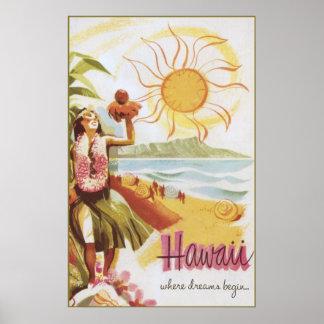 Hawaii - where dreams begin poster
