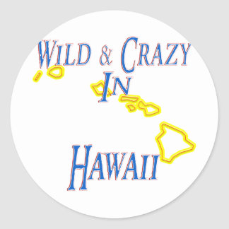 Hawaii - Wild and Crazy Stickers