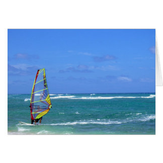 Hawaii Wind Surfer Card