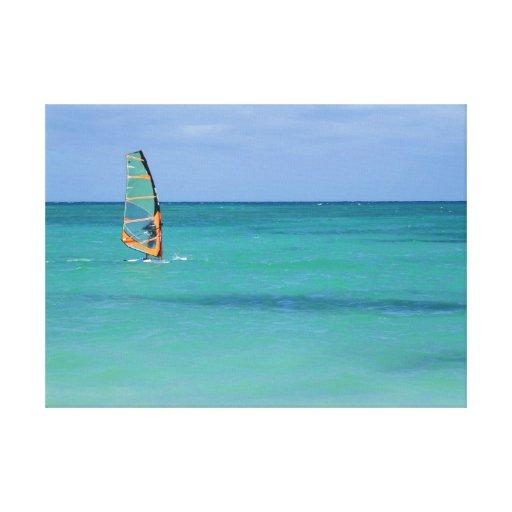 Hawaii Windsurfing Impresiones En Lona Estiradas