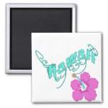 Hawaii with Hibiscus Products Magnet