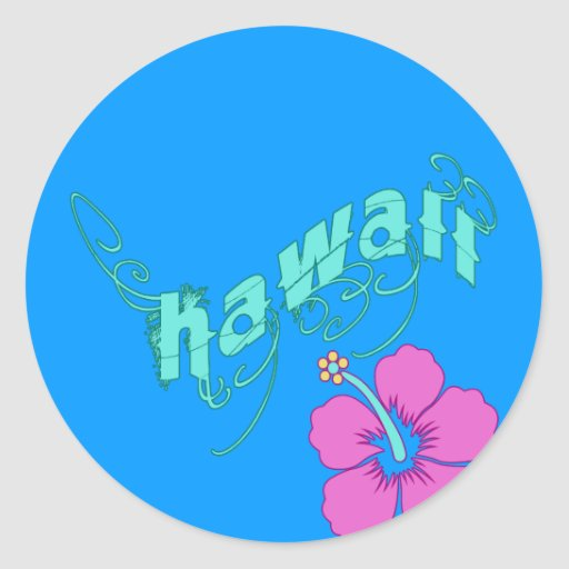 Hawaii with Hibiscus Products Sticker