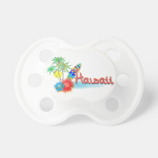 Hawaii with Palms, Flowers and Surfboard Pacifier