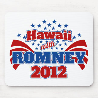 Hawaii with Romney 2012 Mouse Pad