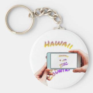 Hawaii world city, cellular phone keychain