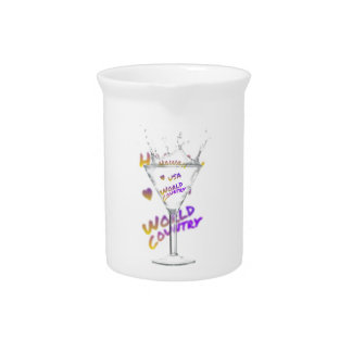 Hawaii world city, Water Glass Beverage Pitcher