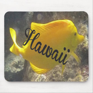 Hawaii Yellow Tang Fish Mouse Pad