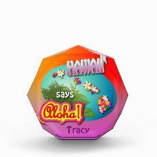 Hawaiian Acrylic Award