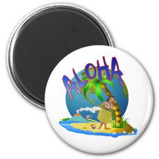 Hawaiian Aloha 2 Inch Round Magnet