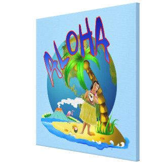 Hawaiian Aloha Canvas Print