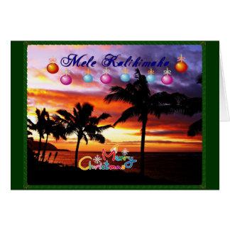 Hawaiian Aloha Christmas card