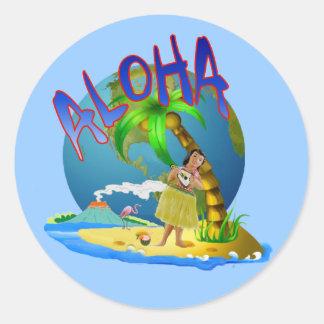 Hawaiian Aloha Classic Round Sticker