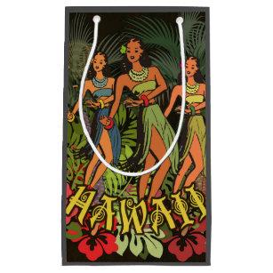 Hawaiian Aloha Floral Hula Art Print Small Gift Bag