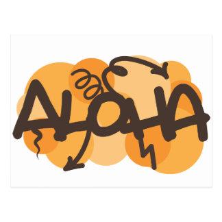 HAwaiian - Aloha graffiti style Postcard