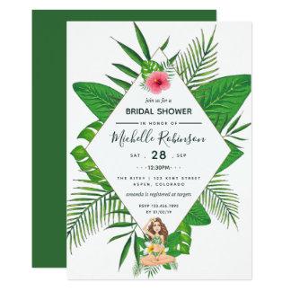 Hawaiian Aloha Luau Bridal Shower Invitation