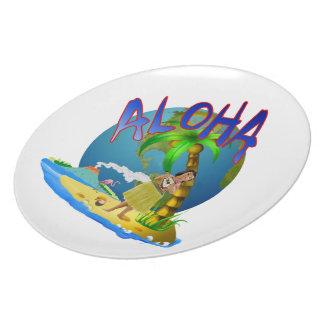Hawaiian Aloha Melamine Plate