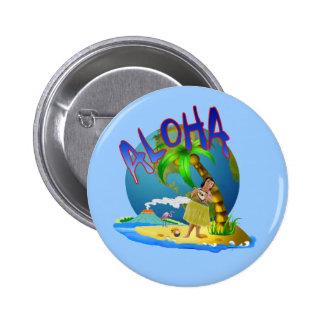 Hawaiian Aloha Pinback Button