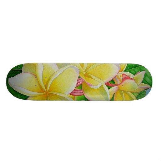 Hawaiian Aloha Plumeria Skate Deck