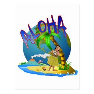 Hawaiian Aloha Postcard