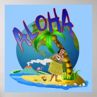 Hawaiian Aloha Poster