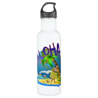 Hawaiian Aloha Stainless Steel Water Bottle