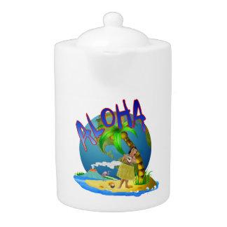 Hawaiian Aloha Teapot