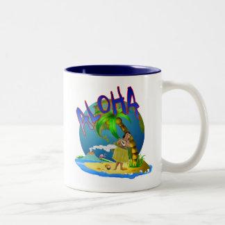 Hawaiian Aloha Two-Tone Coffee Mug