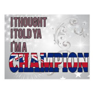 Hawaiian and a Champion Postcard