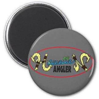 Hawaiian Angler 2 Inch Round Magnet
