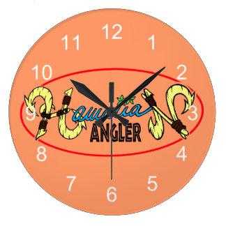 Hawaiian Angler Large Clock