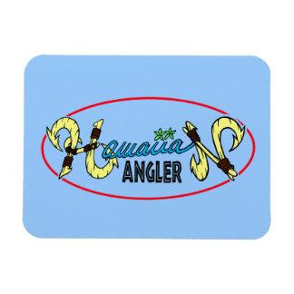 Hawaiian Angler Vinyl Magnet