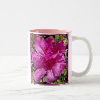 Hawaiian Azalea Blossoms Two-Tone Coffee Mug