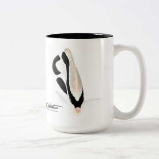 Hawaiian Bandit Angelfish Two-Tone Coffee Mug