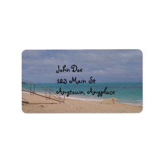 Hawaiian Beach Address Label