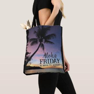 Hawaiian Beach Bar Aloha Friday Tropical Sunset Tote Bag