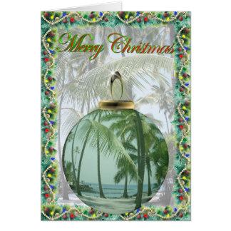 Hawaiian Beach Christmas Card
