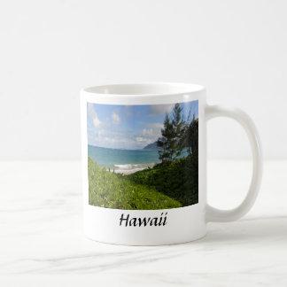 Hawaiian beach coffee mug