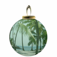 Hawaiian Beach Ornament photosculpture