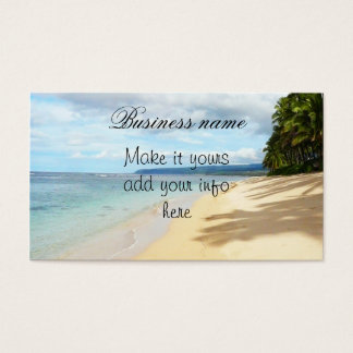 Hawaiian beach scenes Business Card
