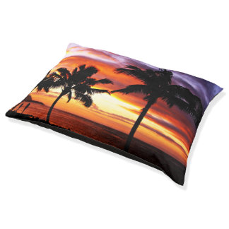 Hawaiian beaches pet bed large dog bed