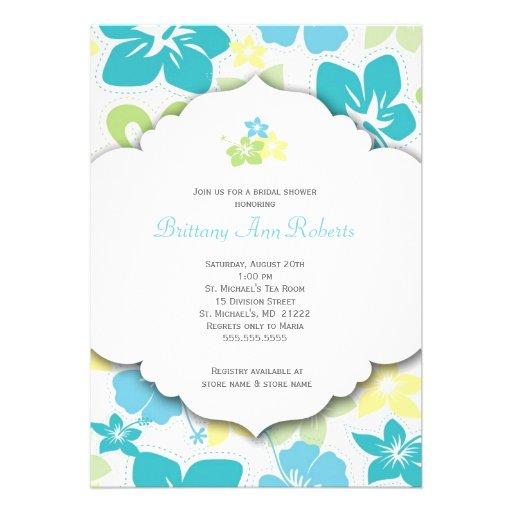 Hawaiian Birthday Party or Bridal Shower Invites