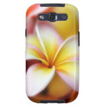 Hawaiian blanco de la flor de Hawaii del Samsung Galaxy S3 Cobertura