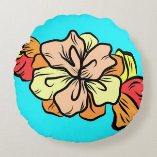 Hawaiian Blossom Round Pillow