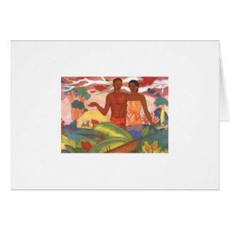 'Hawaiian Boy and Girl', by Arman Manookian Card
