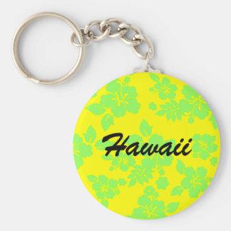 Hawaiian brillante llavero redondo tipo pin