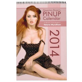Hawaiian Bryan's Pinup Calendar 2014