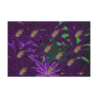 HAWAIIAN BUD PATTERN CANVAS PRINT