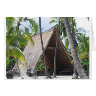 Hawaiian Canoe Hut Card