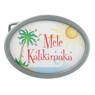 Hawaiian Christmas Belt Buckles